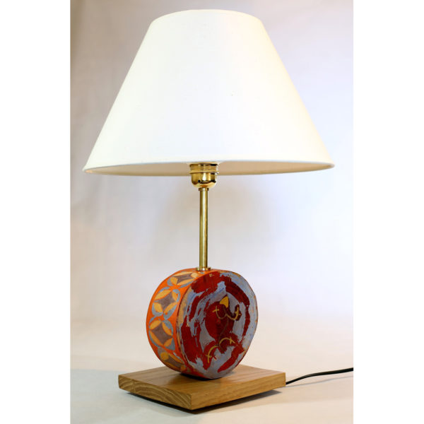 lámpara nogal