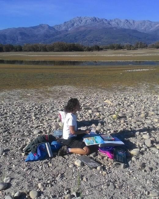 Ana Mouga pinta montaña dn dn