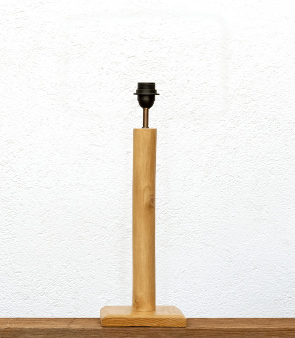 Lámpara Cigüeña-base, base de lámpara de madera de Paulownia - Yolpiq/049 - dn