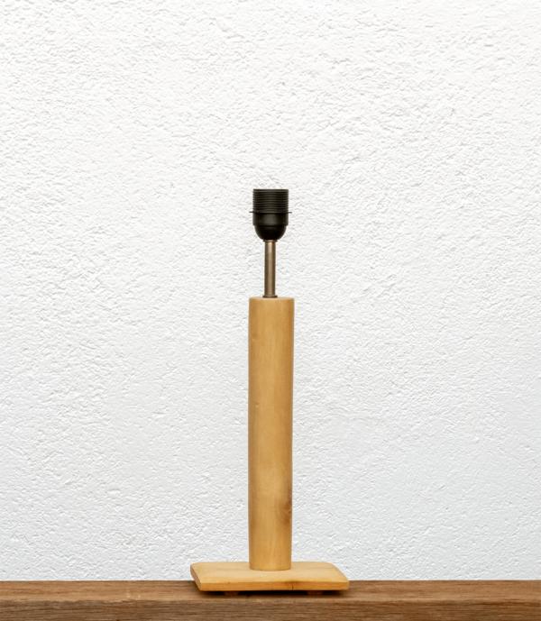 Lámpara Cigüeña base de madera de Paulownia natural - Yolpiq/048 - dn