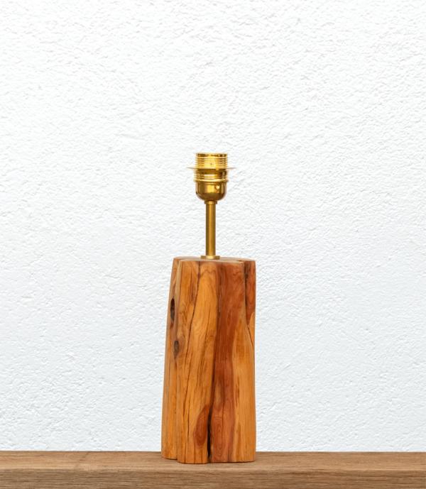 Lámpara Cueva-base - Base de Lámpara de madera de Enebro encerada - Yolpiq/053 -dn