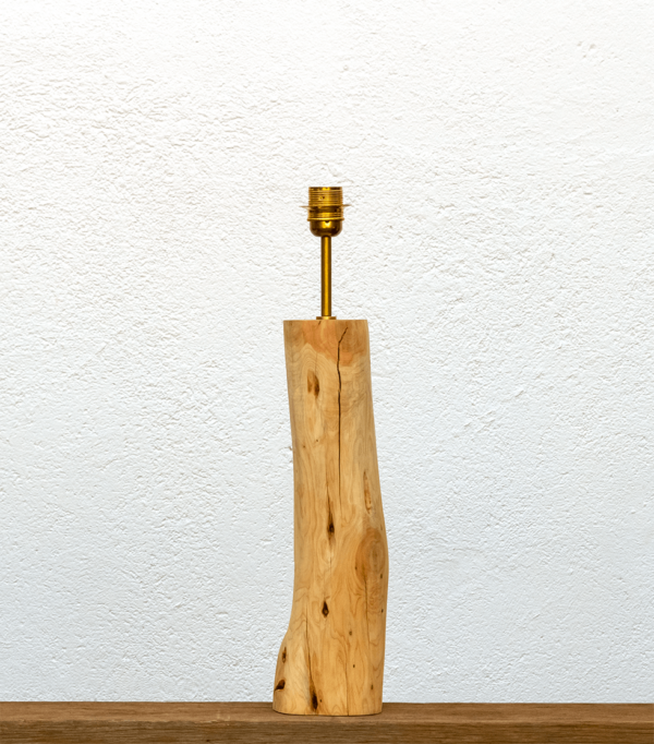 Lámpara Juniperus-base - Base de Lámpara de mesa, de madera de Enebro estilo tronco natural - Yolpiq/059 -dn