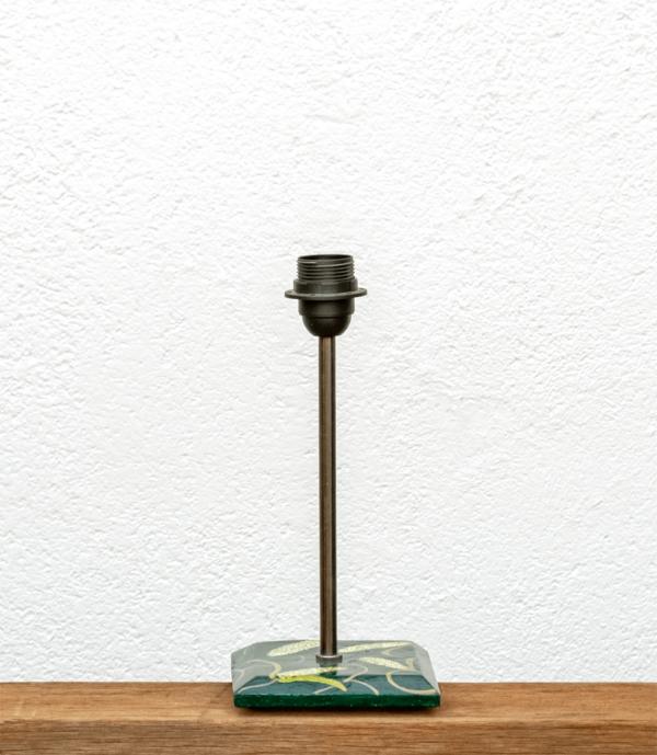 Lámpara Maíz-base de madera de Castaño pintado motivos Maíz - Yolpiq/067 -dn