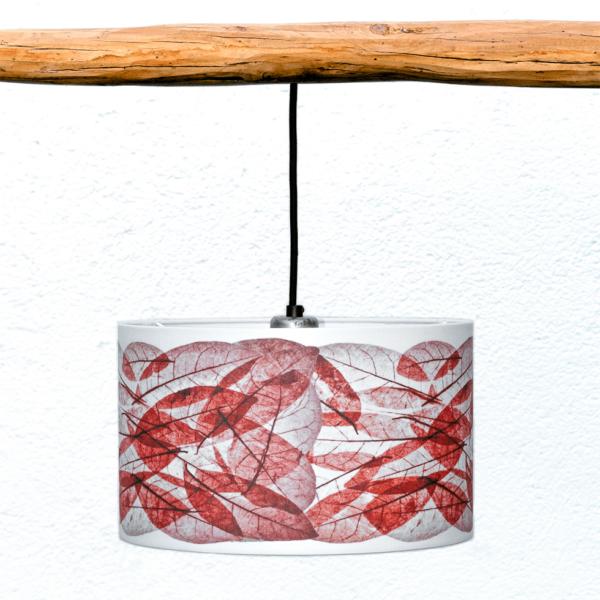 Pantalla Hojas rojas galería - Diseño Natural