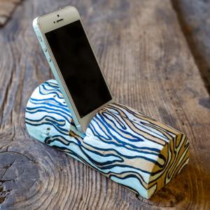 Troncomóvil Cebra-blanco - accesorio de madera de Enebro pintado motivo Cebra en blanco y negro -dn