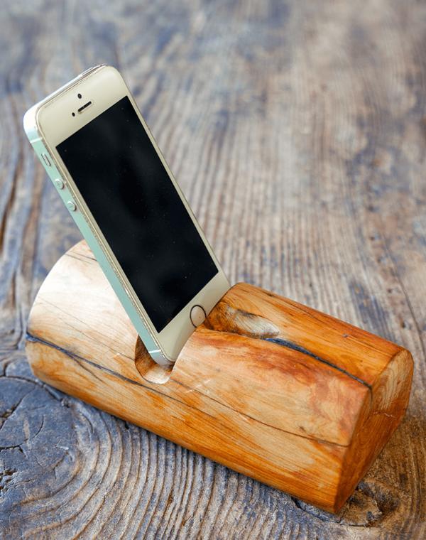 Troncomóvil enebro móvil - Accesorio de madera de Enebro con el móvil incorporado de Diseño Natural.