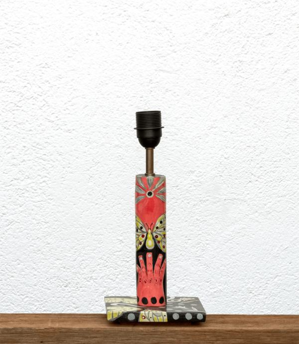 Lámpara Yol-Base de Lámpara de mesa, de madera de Paulownia, diseño totalmente pintada, Yolpiq/043 -dn