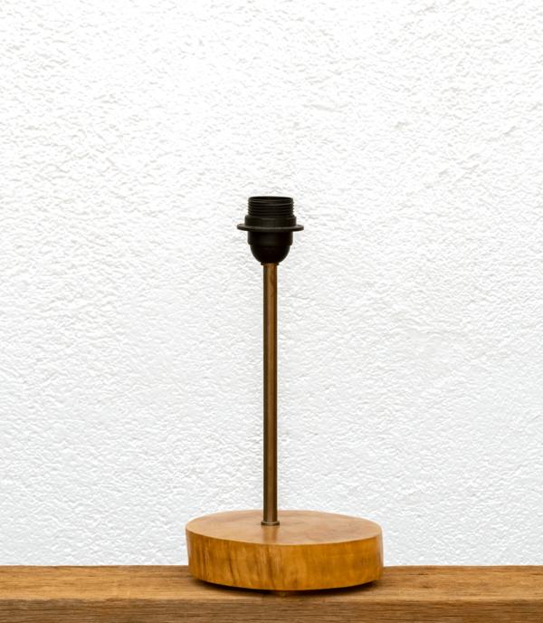 Lámpara Atlantico-base - Base de Lámpara de mesa, de madera de nogal - lámpara yolpiq/028 dn