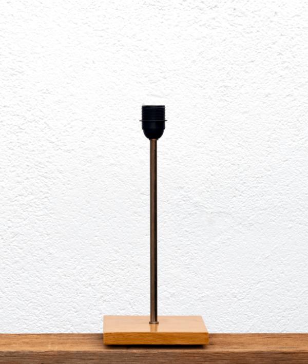 Lámpara Castaño-base de madera de Castaño natural para Lámpara - Yolpiq/025 -dn