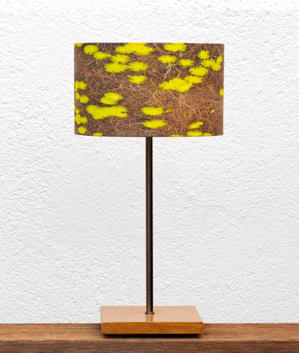 Lámpara Castaño pantalla-Mimosas- Base de Lámpara de madera de Castaño natural con Pantalla Mimosas - yolpiq/025 - dn