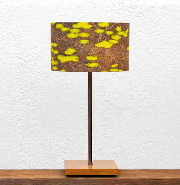 Lámpara Castaño Mimosas - Base de Pantalla de madera de Castaño con Pantalla Mimosas Yolpiq/025-dn