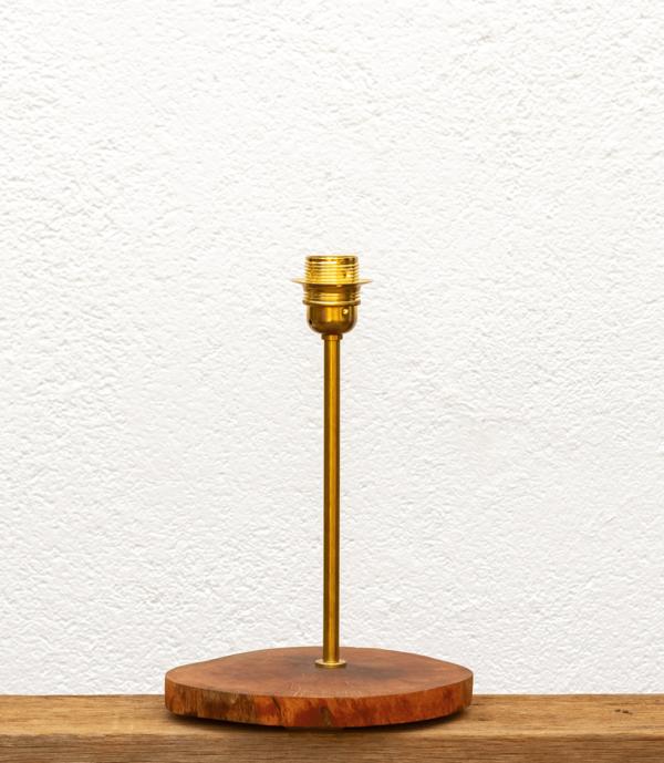 Lámpara Dehesa-Base de madera de Alcornoque encerada y natural - Yolpiq/009 -dn