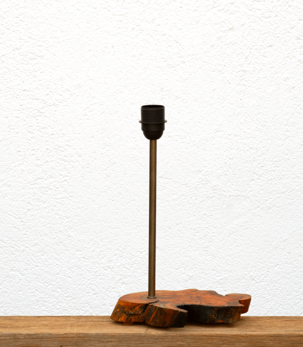 Lámpara Olivar-Base de Lámpara de mesa, de madera de Olivo, encerado, natural - Yolpiq/029 -dn